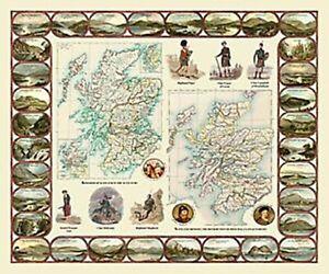 Kingdom of Scotland Historic 1000 Piece Jigsaw Puzzle 690mm x 480mm (jg)