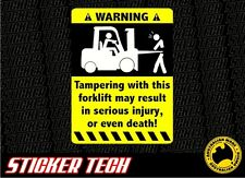 WARNING FORKLIFT STICKER DECAL SUITS CROWN TOYOTA WAREHOUSE PALLET HYSTER LPG
