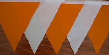 Orange  White Fabric Bunting Wedding Party Decoration 22ft/6.8mt buy 3 pay for 2