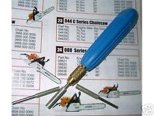 Set of Diamond Chainsaw sharpener 4.0, 4.8, 5.2 & 5.5mm 5/32, 3/16, 13/64 & 7/32