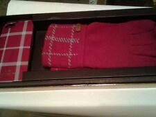 NIB Coach Tattersall iPhone 5/5S Case Raspberry Knit Tech Touch Gloves Set-62998