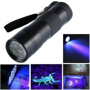 9LED UV Torch Flashlight Ultra Violet Blacklight AAA Light x 1