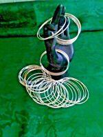 "Bracelet Bangle MultiColored Sparkle Glitter 1//4/""//8mm Thin Metal Bracelets#JL001"
