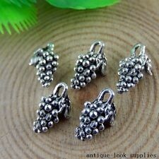 Vintage Silver Alloy Mini Grapes Shape Pendants Charms Crafts Finding 50x 50922