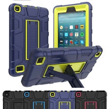 For Amazon Kindle Fire 7 9th/7th Generation Armor Rugged Rubber Stand Cover Case