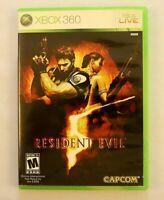 Resident Evil 5 Microsoft xbox 360 2009 Video Game Survival Horror Shooter