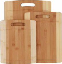 Utopia Kitchen UK0209 Bamboo Wood Kitchen Cutting Board Set - 3 Pack