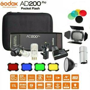 Godox AD200Pro Pocket Flash Light TTL 2.4GHSS Kit for Nikon Sony Canon Fuji DLSR