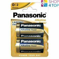 2 PANASONIC ALKALINE POWER D LR20 BATTERIES BLISTER 1.5V MONO R20 MN1300 AM1 E95