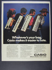 1984 Casio PT-80 MT 35 46 68 Keyboards photo vintage print Ad