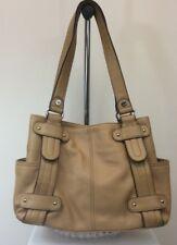 Women's Tignanello Handbag Purse Tan Genuine Leather