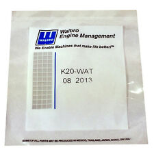 GENUINE Walbro K20-WAT Complete Rebuild Kit WA/WT K20WAT
