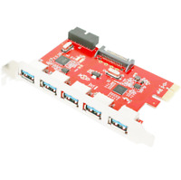 Mailiya PCI-E to USB 3.0 5 Port PCI Express Expansion Card (PCIe Card) Ships Fre