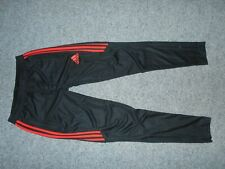 ADIDAS D94751 TIRO 17 MENS SMALL RED STRIPE SOCCER ATHLETIC PANTS             A3