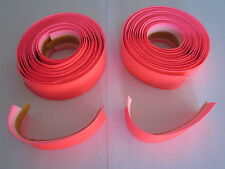 NOS 3TTT SYNTHETIC LEATHER HANDLEBAR TAPES - FLUO PINK - NO END PLUG