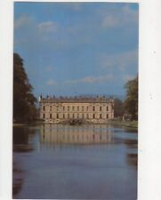 Chatsworth South Front From Canal Pond Old Postcard 574a