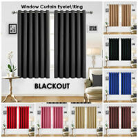 Luxurious Ring Top Thermal Blackout Eyelet Small window Pencil Pleat Curtains
