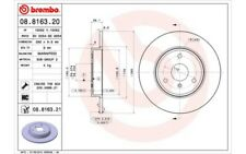1x BREMBO Disco de freno delantero Pleno 280mm 08.8163.21