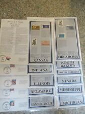 "11 stamp panels of ""Historic US Stamps honoring our 50 States"" W binder"