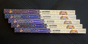 40 Sticks 5x 8g Boxes FRANKINCENSE MYRRH Scented Incense Insence Bulk Kamini