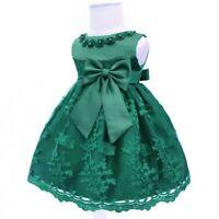 Dress kid party wedding baby flower formal tutu girl princess bridesmaid dresses