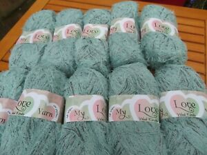 MY LOVE Wool Kinds Delicate Loopy Cotton Like Knitting Yarn - Pistachio 1000g