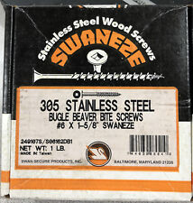 New listing Swan 305 Stainless Steel Bugle Head Beaver Bite Screw #6 X 1-5/8� 1 Pound Box