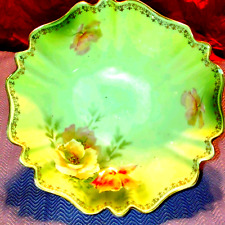 New listing Rs Prussia China dessert bowl w/flowers