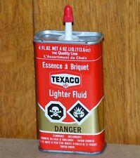 Rare Canadian TEXACO Lighter Fluid red/gold handy oil tin can oiler FREE SHIP!