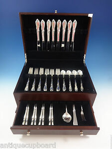 Rhapsody by International Sterling Silver Flatware Service For 8 Set 43 Pieces