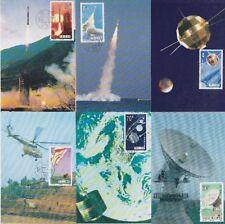 China FDC 2046 - 2051 auf 6 Maxikarten, Weltraum Space, gest., used