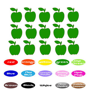 Apple Vinyl Stickers for Envelope seal Party cup Wedding Birthday Planner wall