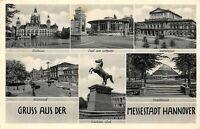 Hannover Hanover Germany Deutschland Multi View Vintage 1950 Postcard B12