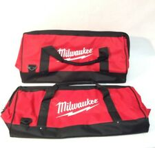 "2x Milwaukee 22"" NEW Heavy Contractor Tool Bag 22"" x 11,5"" x 12"" 6 Inside Pocket"