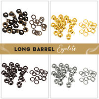 Long Barrell Grommets Eyelets with Washers Brass for Leather Craft Repair 100pcs