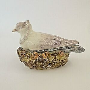 Antique Staffordshire Pearlware Tureen Dove On Nest c1820