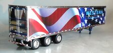 DCP WESTERN BLUE WHITE RED TRI AXLE DRY VAN TRAILER ONLY 1/64 34081 T