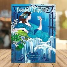 Bombay Sapphire Gin sign Drinker Retro Metal Plaque, Pub, Bar, garden man cave