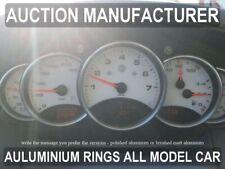 Per Porsche 996 / 911 1998-2005 Anelli Alluminio Strumenti Strumentazione 5pezzi