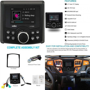 3 Inches Display AM/FM Marine UTV RZR Bluetooth Radio Digital Media Receiver MP3