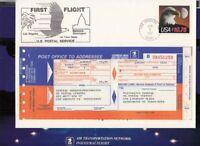 1987 First Flight $10.75 Sc 2122 Los Angeles - Terre Haute - Washington DC