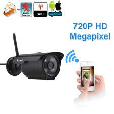 1 Sricam 720P H.264 HD IP Kamera Funk Wireless Außen Cam Webcam IR Nachtsicht TF