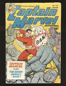 Captain Marvel Adventures # 137 VG Cond.