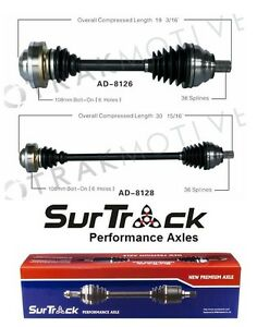 Pair of Front CV Axles Shafts For Audi A3 VW CC EOS Jetta GTI SurTrack Set