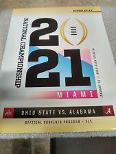 2021 College Football NATIONAL CHAMPIONSHIP Program - OSU vs.Alabama- 3.50 Ship