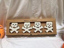 New  Halloween Wood Skeleton 6 Ft Garland Halloween Decor Skull & Bones