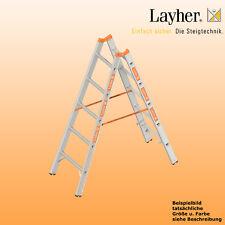 Layher Alu Sprossenstehleiter, 2x5 Spr., L=1,55m, Bockleiter Topic Typ 1039.005