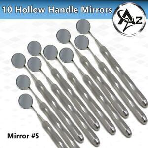 German 10 Dental Mouth Mirror #5 Unique Hollow Handle Dental Instruments Dentist