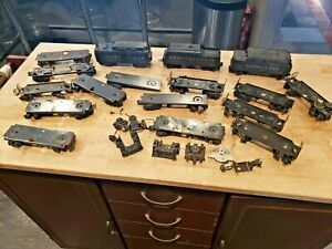 Lot of Vintage Lionel Train coal tenders, chassis and other parts