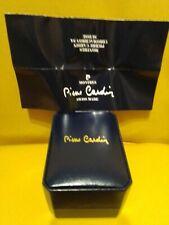 PIERRE CARDIN-SCATOLA BLU PER OROLOGIO-VINTAGE-CON GARANZIA-RARE WATCH BOX-CASE